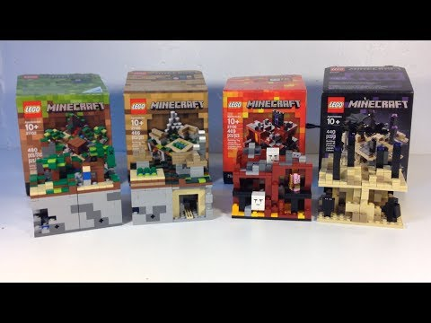 LEGO Minecraft ALL 4 Micro Worlds Forest, Village, Nether, End ...