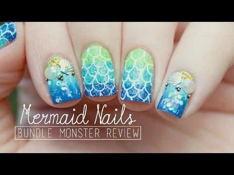 Mermaid Nail Art Bundle Monster Review Youtube