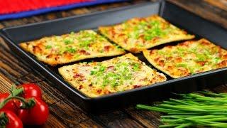 Ein Gericht, für das du Feuer und Flamme bist: Flammkuchen-Toast.