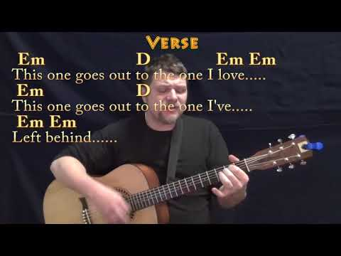 The One I Love (REM) Strum Guitar Cover Lesson with Chords/Lyrics