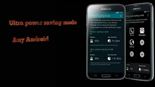 Ultra power saving mode in any Android # UPSM new 2017// by technical yaar