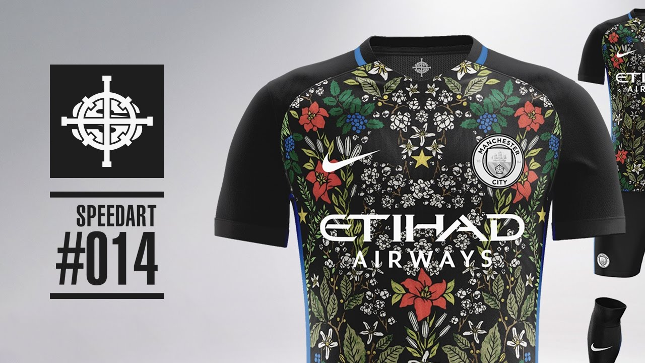 Nike X Rt Manchester City Football Kit Concept Speedart