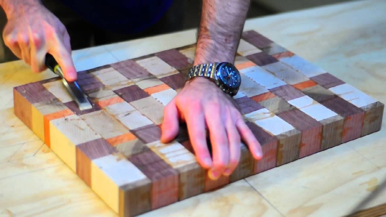Building A Butcher Block End Grain Cutting Board Youtube