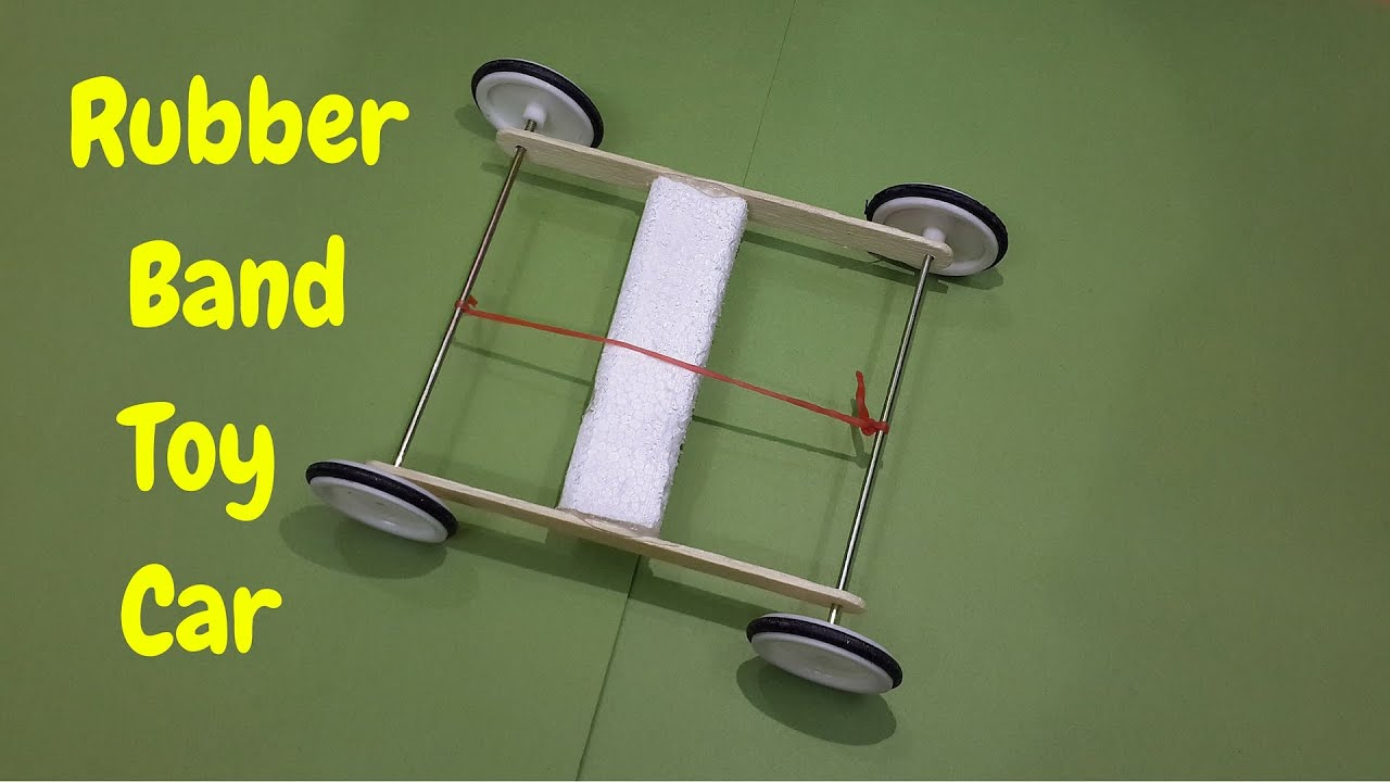How to make a easy rubber band powered toy car homemade car how to make a easy rubber band powered toy car homemade car clipzui malvernweather Images