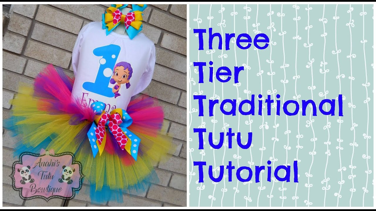 How To Make A Three Tier Traditional Tutu Tutorial Youtube