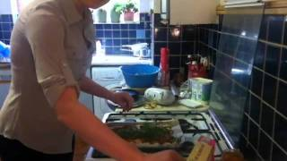 How To Make Soda Bread Pizza With Roasted Peppers, Goats Cheese And Rocket