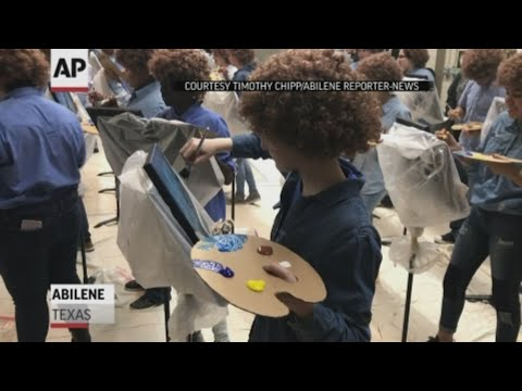 Valentine In The Morning - Middle School Students Have A Bob Ross Painting Flash Mob