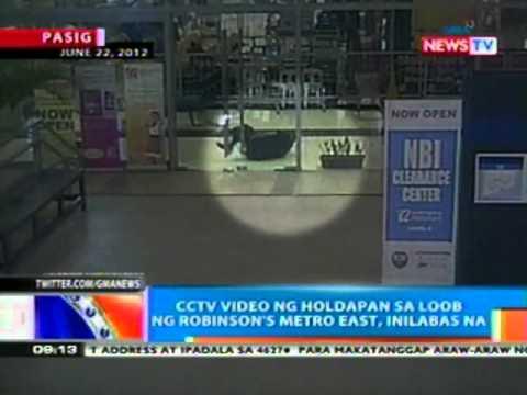NTG: CCTV video ng holdapan sa loob ng Robinson