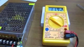 Обзор блока питания для светодиодных лент. 12V 100W 8.3A