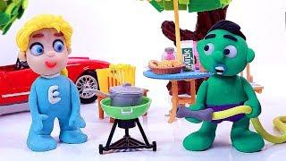 Elsa's picnic 💕Play Doh Stop motion videos for children