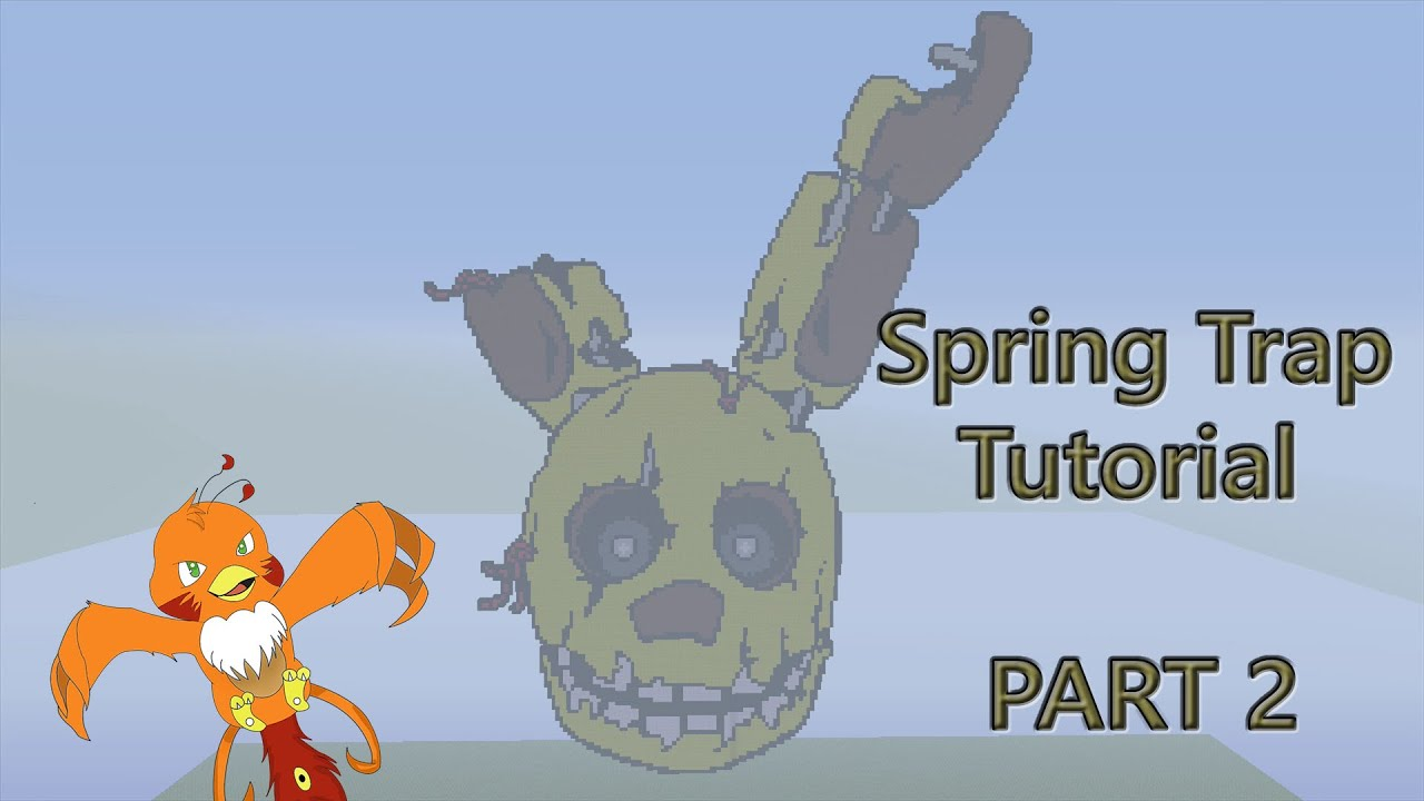 Minecraft Pixel Art Tutorial  How To Make Spring Trap Part 2 Five Nights At Freddy U0026 39 S 3