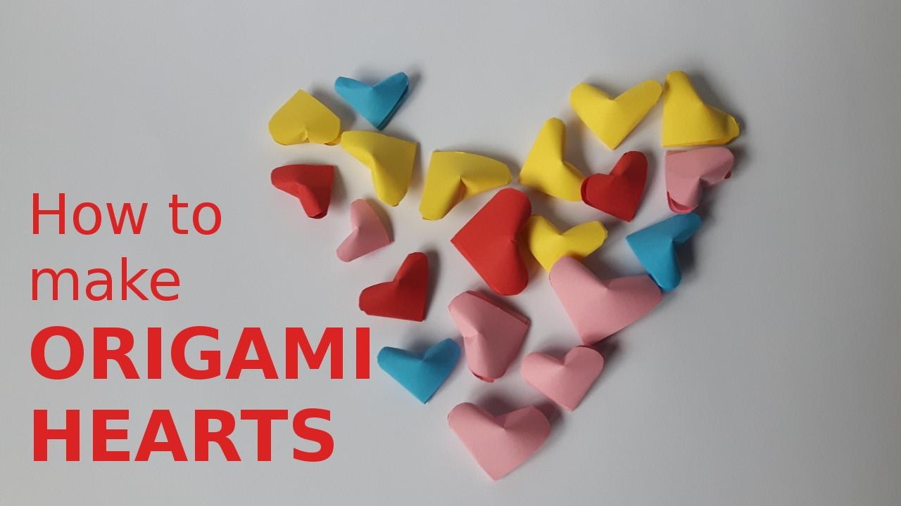 How to make mini ORIGAMI HEART - YouTube - photo#6
