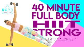 40 Minute Full Body HIIT Strong Workout 🔥Burn 410 Calories!* 🔥Sydney Cummings