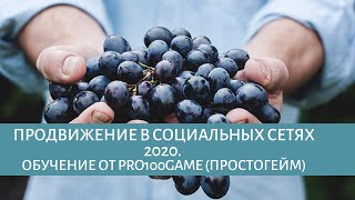 Продвижение в социальных сетях 2020. Обучение от Pro100game (простогейм)