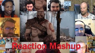 God Of War -  Story Trailer -  PS4 REACTION MASHUP