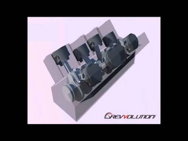 V8 Engine Configuration 3d Rendering