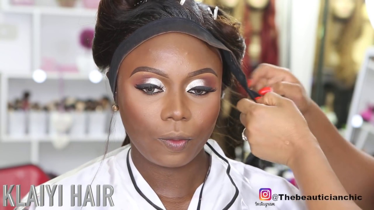 bridal hair and makeup transformation 03|silver|gloss|klaiyi hair