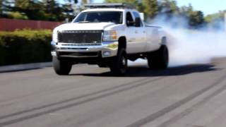 Duramax Dually Burn Out!