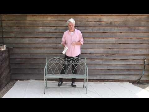 How to spray paint a metal bench with PlastiKote spray paint