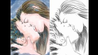 How to Draw A Kissing Couple | YZArts | YZArts