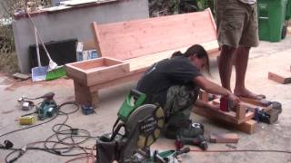 Building Thang's Fire Pit - Part 2 Of 3: Benches