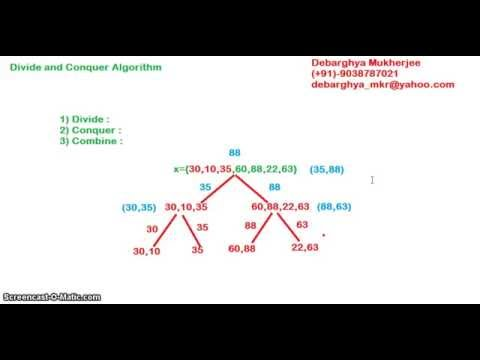 Divide and Conquer algorithm problems tutorial