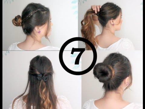 7 peinados fáciles para toda la semana: lunes a domingo! - youtube