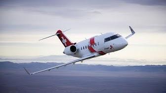 Bombardier Challenger 650: So sieht der Rega-Jet von innen aus