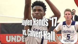 Jaylen Hands '17 vs. Calvert Hall, UA Holiday 1st Round, 12/27/16