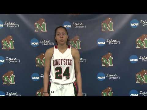 Minot State Women's Basketball vs Minnesota Duluth post game interview