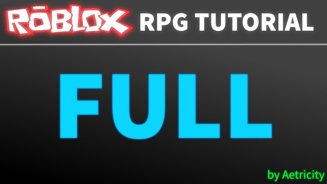 How To Make An RPG Game In Roblox #1 | Basics, Customizing ...