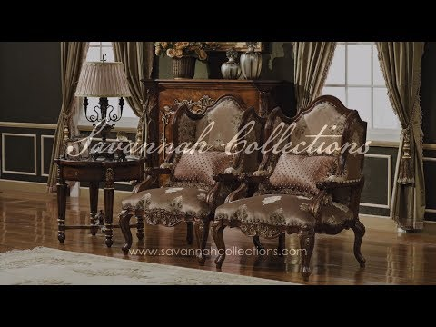 Victorian Furniture Occasional Chair in Antique Walnut by Savannah Collections - Maitland Smith