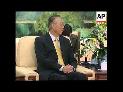 WRAP Chinese President Hu Jintao meets Singapore Prime Minister