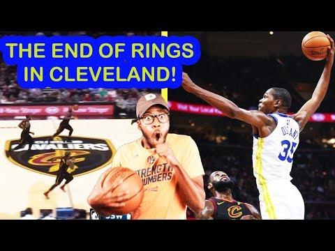 CLEVELAND THIS ONE WAS FOR YOU! KD & WARRIORS SPAZZ VS CAVALIERS {LAST MATCH OF SEASON} REACTION!