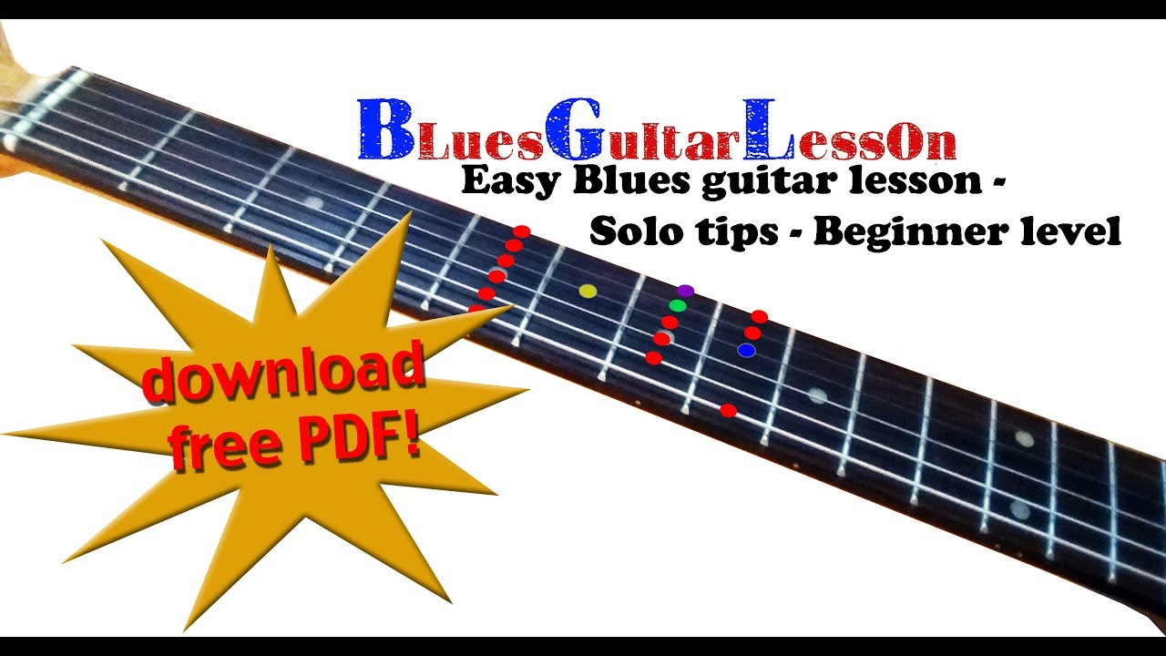 Blues Guitar Lesson Pdf