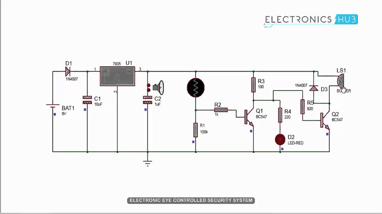 Wiring Diagram For Fire Alarm System Siemens G120 Vfd Electronic Eye Controlled Security Using Ldr - Youtube