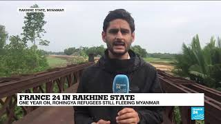 Baixar One Year On, Rohingya Refugees Still Fleeing Myanmar