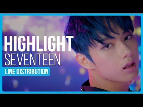SEVENTEEN - Highlight Line Distribution (Color Coded)