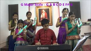 "Tutorial""Indian National Anthem""in All 12 scales, by Nanganallur Music school,chennai."