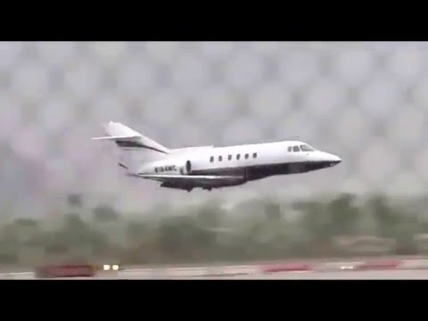 Plane Makes Belly Landing at the Palm Springs International Airport in California.