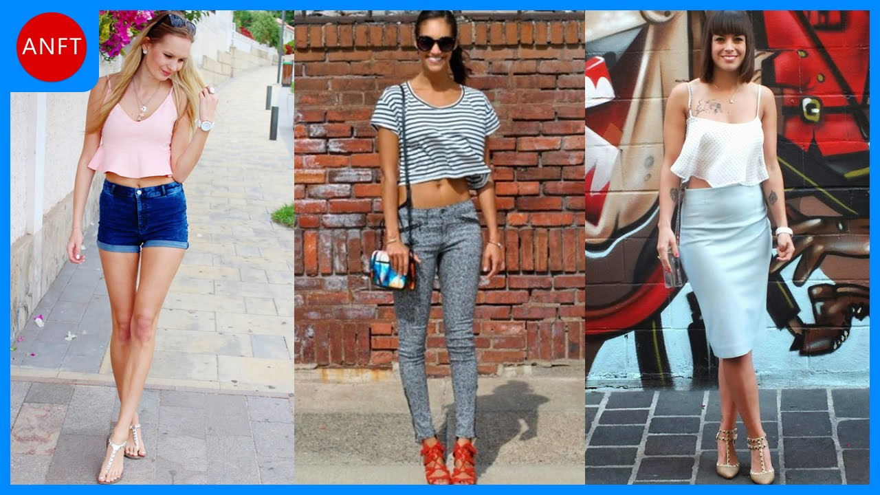 c54694e4462e Stylish Examples How To Wear Crop Top - YouTube