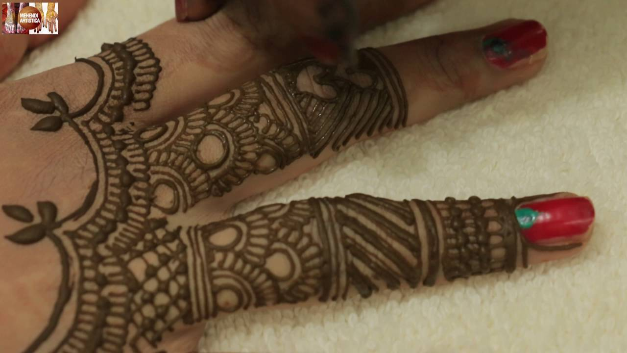 Mehndi Designs Learning Hands : Stylist beautiful easy simple figners mehndi design:learn