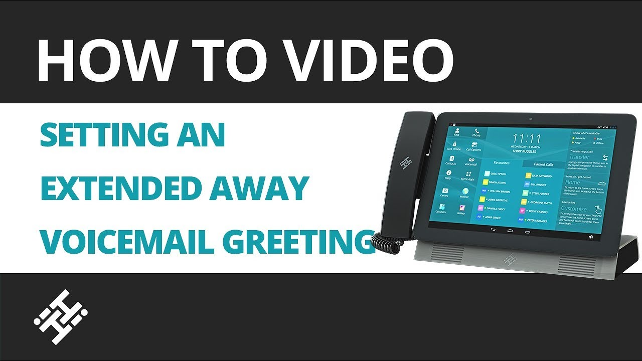 How To Set An Extended Away Voicemail Greeting On The Hihi Youtube