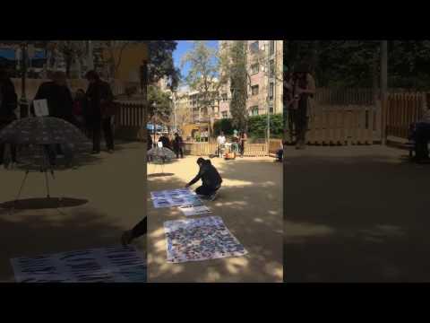 Street artists in Barcelona