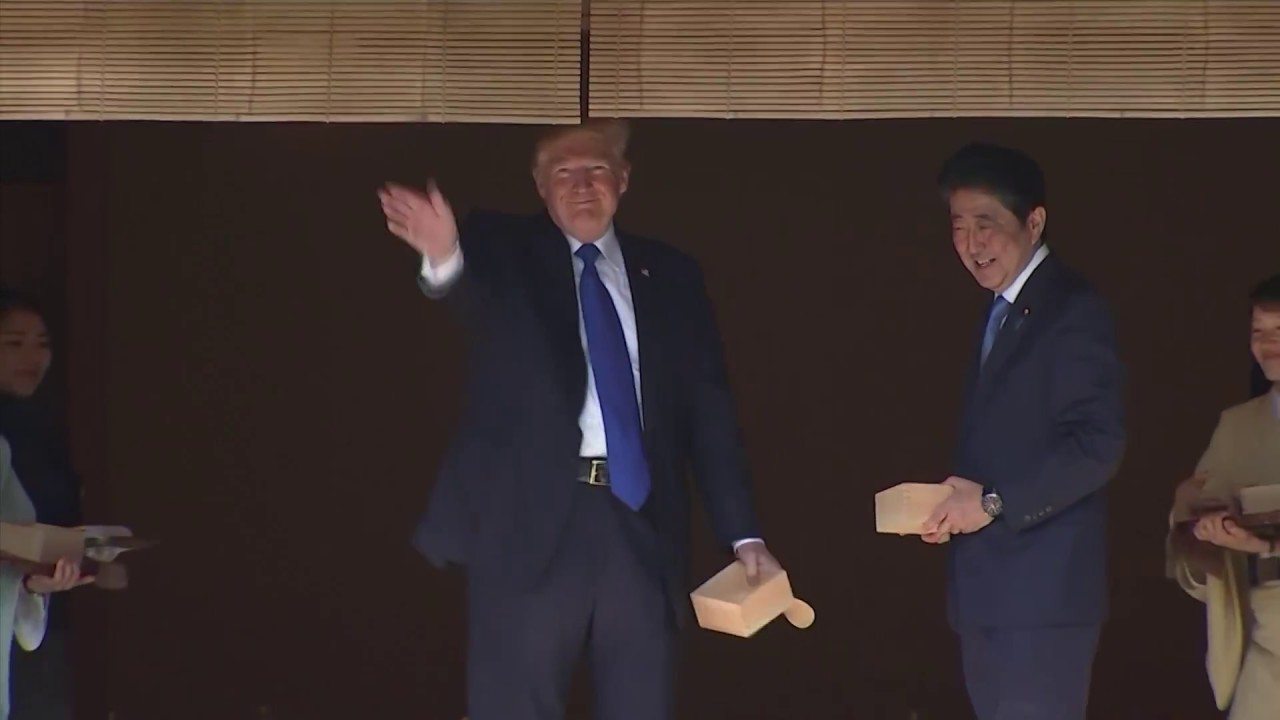 Trump's Japan visit includes formalities and fish