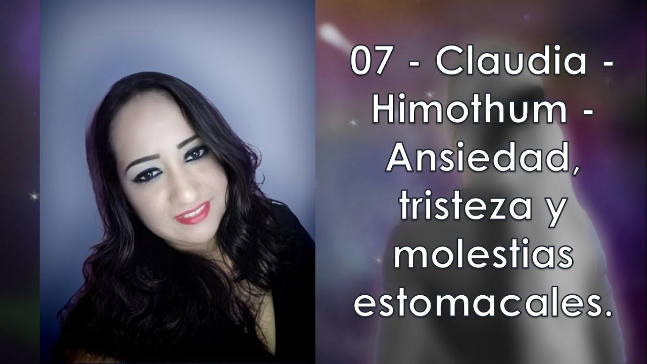 07 -  Claudia -  Himothum -  Ansiedad, tristeza y molestias estomacales