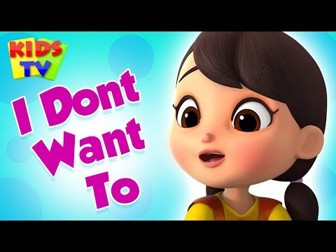 I Don't Want to   Boom Buddies Cartoons   Learning Videos   Nursery Rhymes & Kids Songs