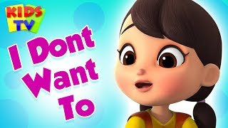 I Don't Want to | Boom Buddies Cartoons | Learning Videos | Nursery Rhymes & Kids Songs
