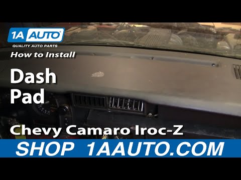 How To Install Dash Pad Chevy Camaro Iroc-Z 82-92