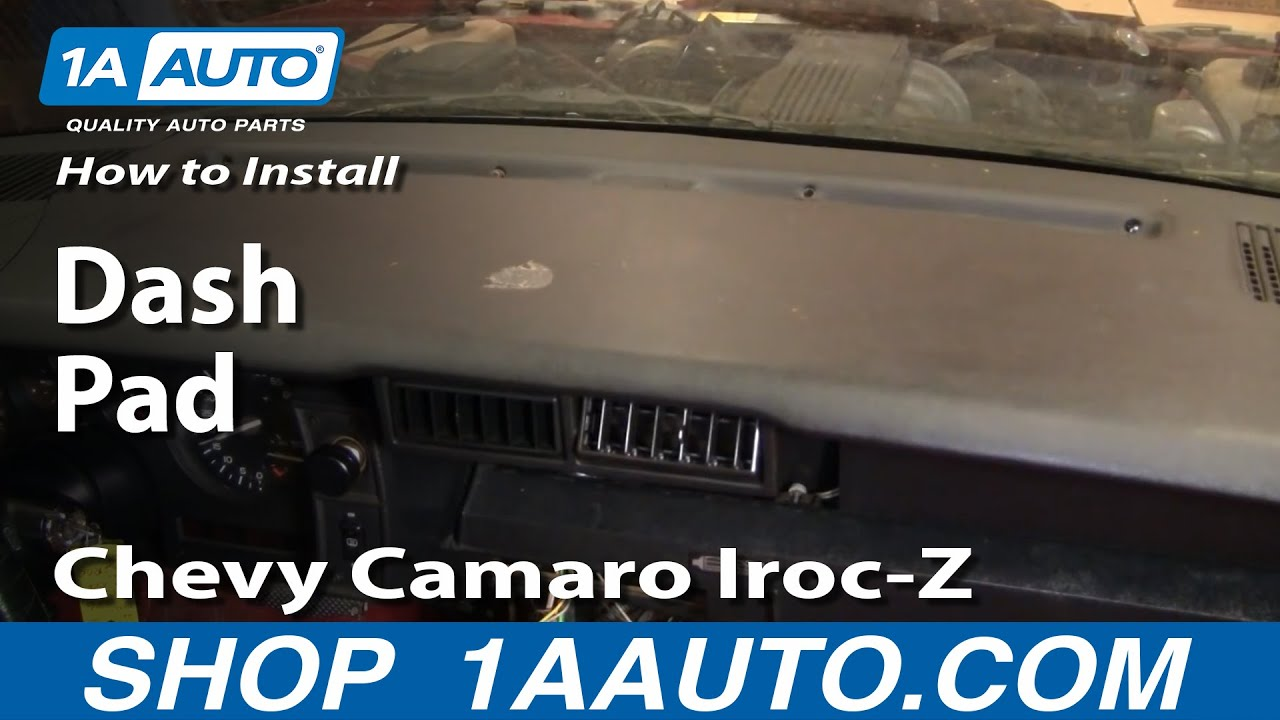 How To Install Replace Dash Pad Chevy Camaro Iroc Z 82 92
